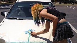 Whiteboard Stop Motion Animation (On a Car!)