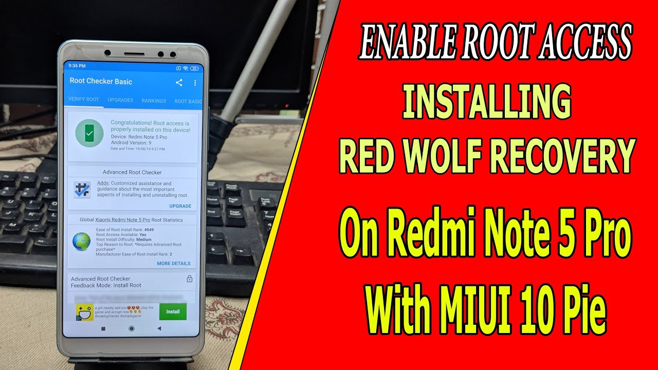 INSTALL RED WOLF RECOVERY AND ROOT REDMI NOTE 5 PRO || 2019 || HINDI