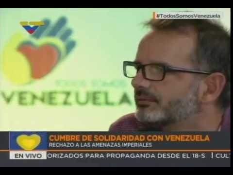 Senador español Ignacio Bernal y Christian Rodríguez (Francia) solidarios con Venezuela