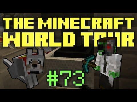 The Minecraft World Tour - #73: Hopper Minecart Transport Line