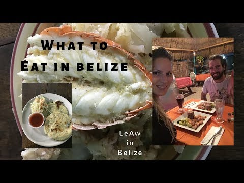What to eat in Belize - Food in Ambergris Caye - Some of San Pedro's dishes - LeAw in Belize