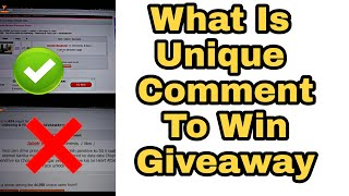 What is unique comment to win any giveaway ?