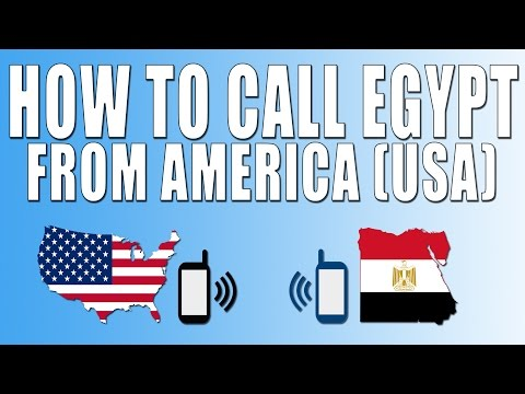How To Call Egypt From America (USA)