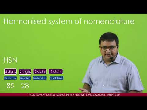 GST - HSN Harmonised System Of Nomenclature