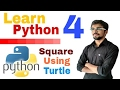 Learn python programming   4   Turtle   Shell vs script    Eng Hindi