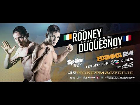 Damien Rooney Vs Tom Duquesnoy - BAMMA 24
