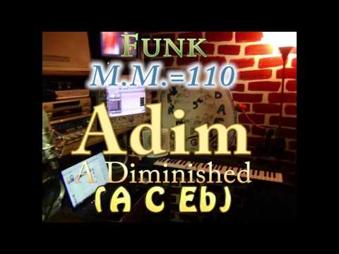 a diminished (a c eb) one chord backing track - funk m.m.=110