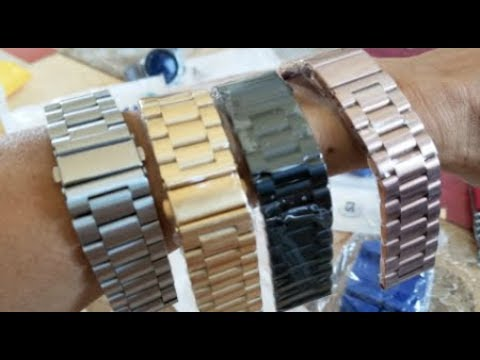 Unboxing 4 Samsung Galaxy Gear Black Gold Rose Gold Watch Band