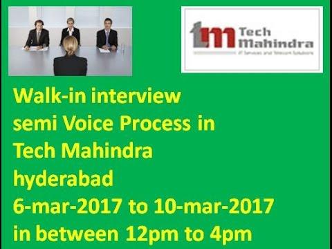 Bpo Job In Techmahindra At Hyderabad Semi Voice Process On 6 Mar 10 Mar 2017 Youtube