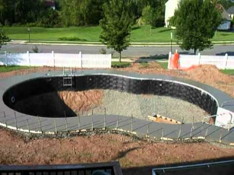 Inground pool timelapse youtube inground pool timelapse solutioingenieria