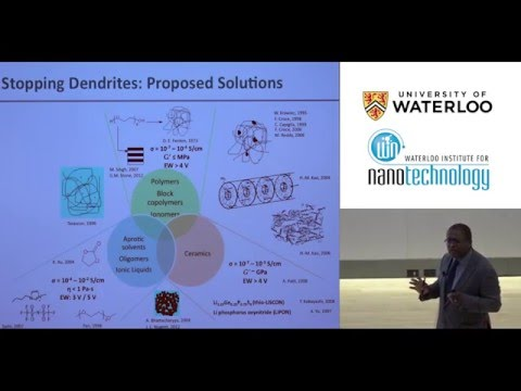 Professor Lynden Archer - Waterloo Institute for Nanotechnology (WIN) Distinguished Lecture