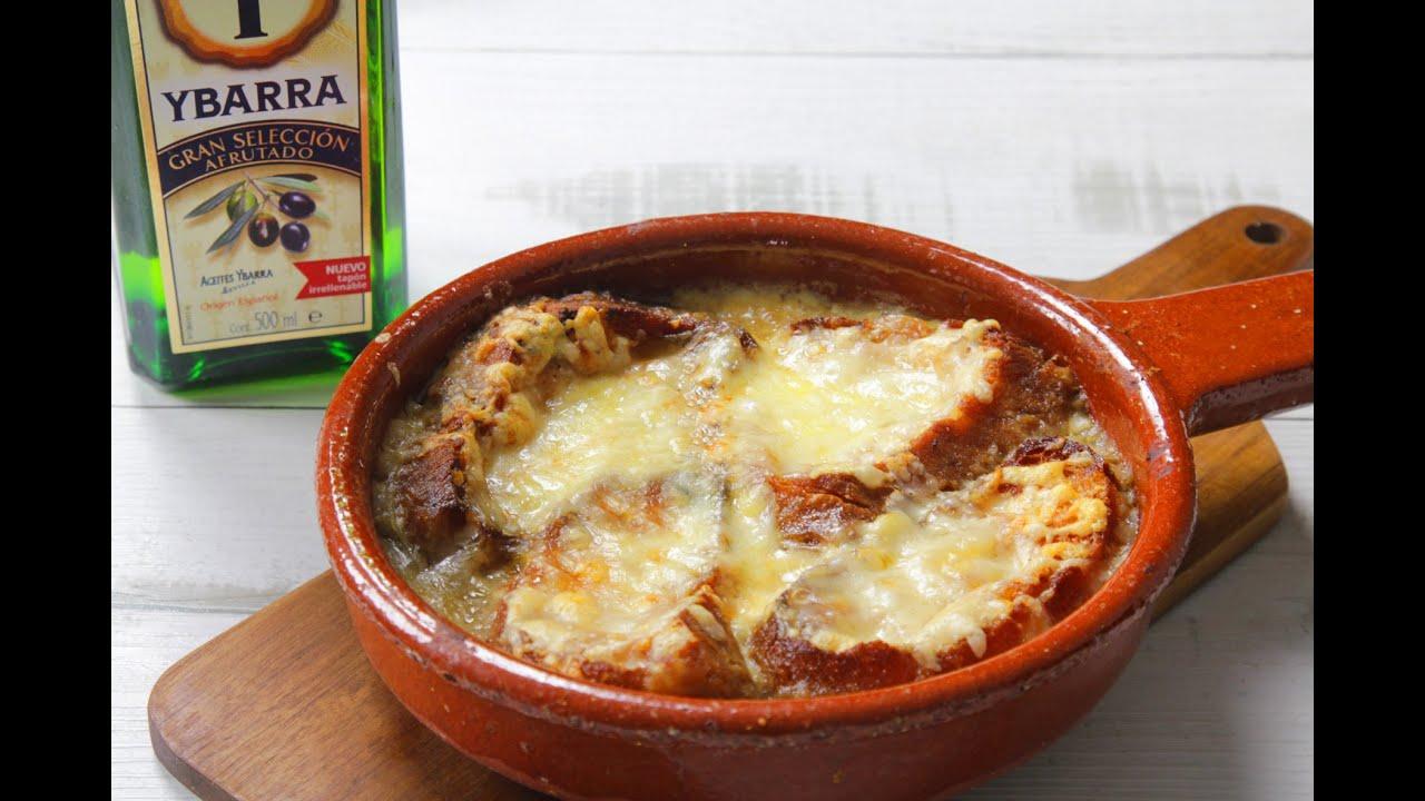 sopa de cebolla gratinada youtube