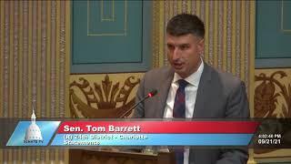 Sen. Barrett remembers WWII Navy veteran Richard