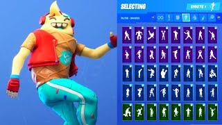 LIL WHIP ICE CREAM SKIN SHOWCASE WITH ALL FORTNITE DANCES & EMOTES