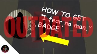 """How to get """"I fear no man"""" badge! / Roblox """"Hmm..."""""""