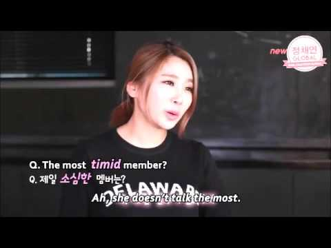 Jea talked about I.O.I Chaeyeon during her interview