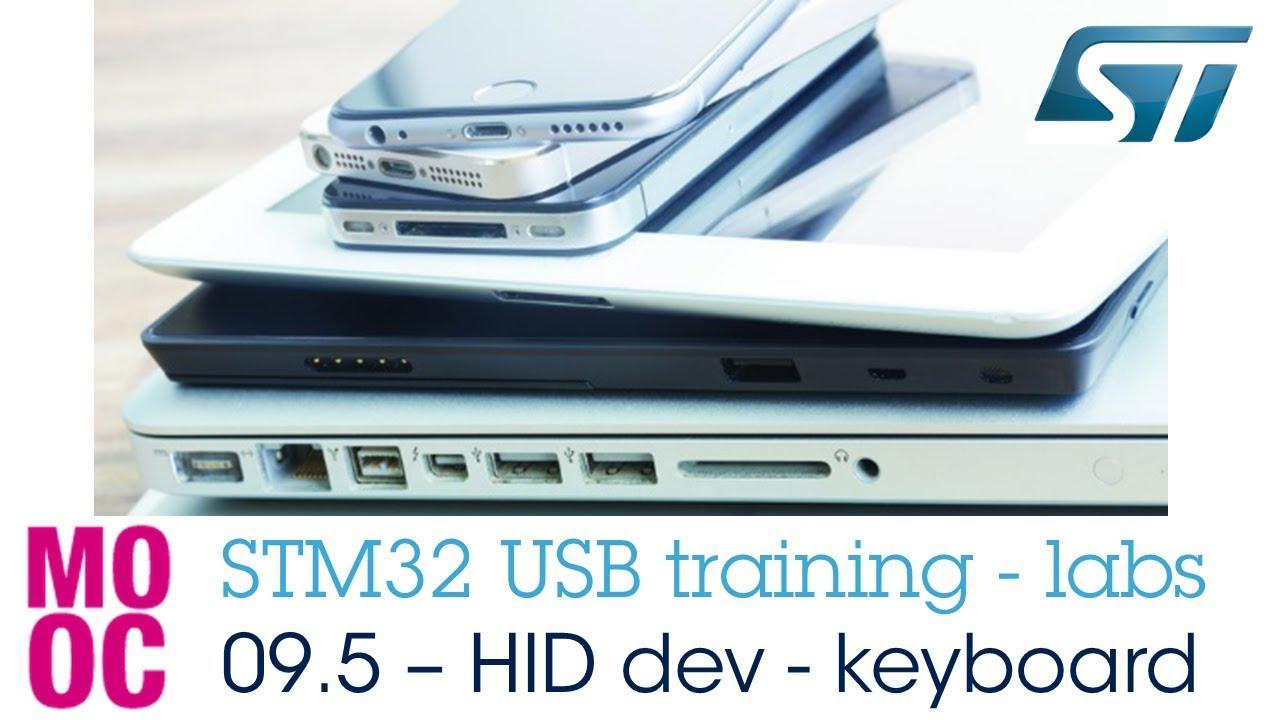 STM32 USB training - 09 5 USB HID device keyboard lab