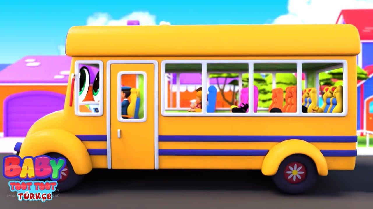 Otobüsteki tekerlekler | Çocuklar Için Şarkılar | Baby Toot Toot Türkçe | Animasyonlu videolar