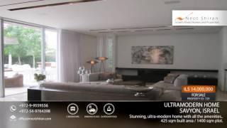Ultramodern Home for sale in Savyon, Israel