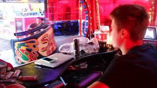 Jonathan Danters waltzer operator view with Tyller controlling at Caldicot Funfair 2018