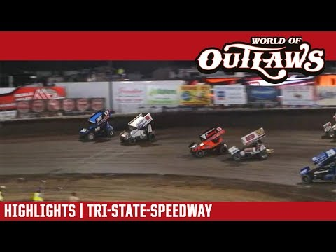 World of Outlaws Craftsman Sprint Cars Tri-State Speedway May 13, 2018 | HIGHLIGHTS