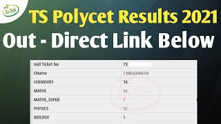 TS Polycet Results 2021 Release || How to Check TS Polycet Results Online 2021