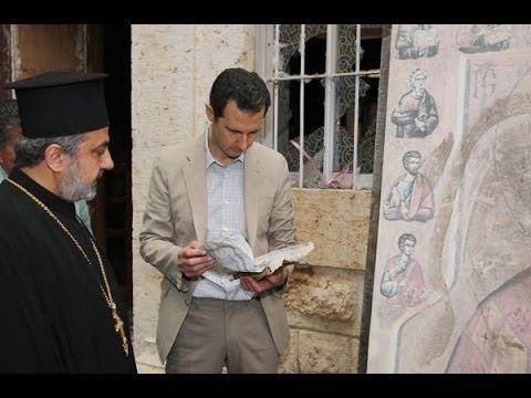 Syria, President Bashar al-Assad visited Maaloula town - Easter 2014