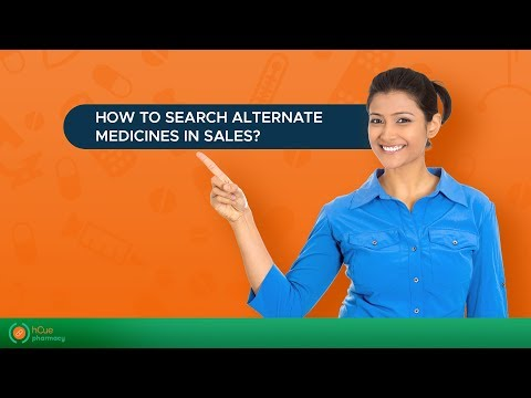 hCue Pharmacy Software : How to search alternate medicines in sales?