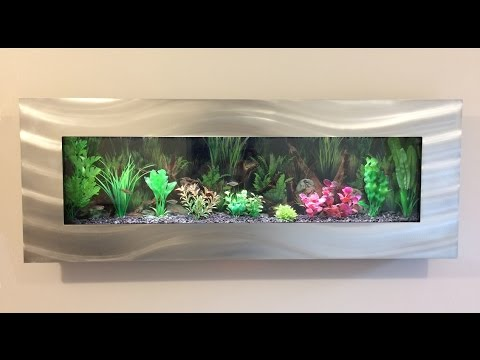 Panoramic Wall Mounted Aquarium Fish Tank Tropical