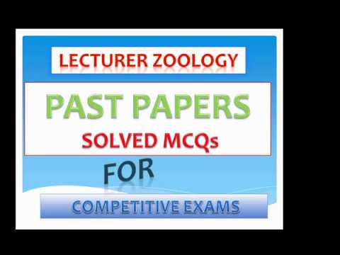 Solved Question | Past Paper Repeated MCQs Lecturer Zoology , PMS, CSS,  PPSC, FPSC, AD, NTS, Exams