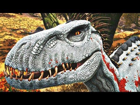 """NOVO Indoraptor Albino Quadrupede, Caçada em """"Família""""! Dinossauros Ark Survival Evolved (PT/BR)"""