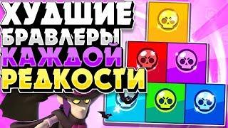 БРАВЛ СТАРС ХУДШИЕ БРАВЛЕРЫ В КАЖДОЙ РЕДКОСТИ