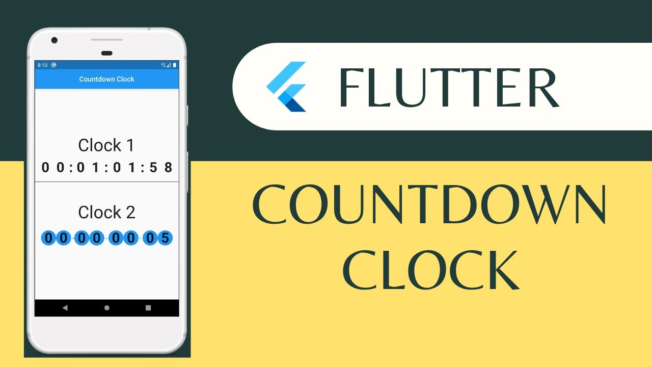 Flutter Countdown Clock Example With Animation - Flutter Packages