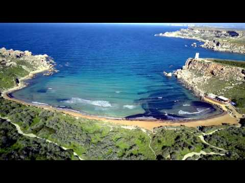 Golden Bay and Ghajn Tuffieha Bay, MALTA