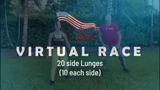 20 Side Lunges - Soldier Rush Virtual Race