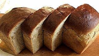 АВТОРСКИЙ РЕЦЕПТ. ПШЕНИЧНО - РЖАНОЙ ХЛЕБ.  Вкусно и полезно/WHEAT - Rye bread.