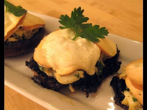 Crab Stuffed Portobello Mushrooms Recipe Video - Laura Vitale