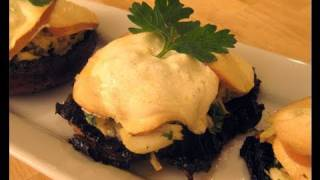 "Crab Stuffed Portobello Mushrooms Recipe Video - Laura Vitale ""laura In The Kitchen"" Episode 31"