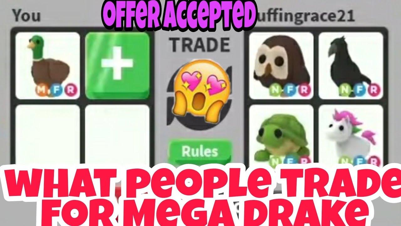 What People Trade For Mega Neon Drake In Adopt Me Trading