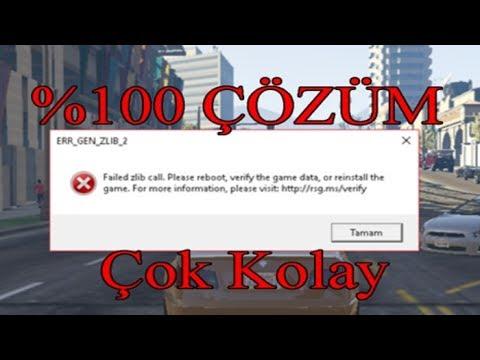 حل مشكلة GTAv : ERR_GEN_ZLIB_2 | FunnyDog TV