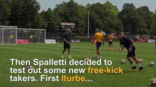 Roma Tour Day 3: El Shaarawy and Paredes show off free-kick skills
