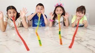 Fruit Roll Ups Challenge - HZHtube Kids Fun