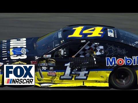 Tony Stewart Wins in Last Lap Battle with Denny Hamlin  Sonoma  2016 NASCAR Sprint Cup