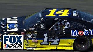 Tony Stewart Wins in Last Lap Battle with Denny Hamlin - Sonoma - 2016 NASCAR Sprint Cup