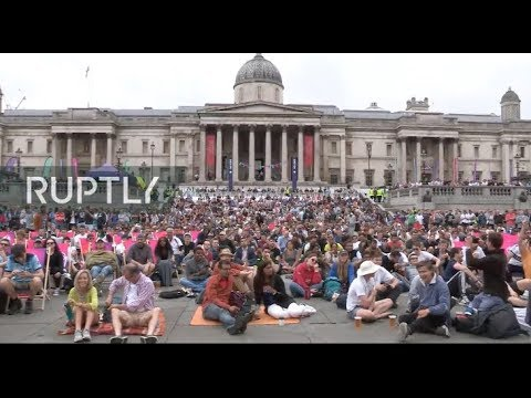 LIVE: Fans Watch Cricket World Cup Final At Official Fan Zone In London's Trafalgar Square
