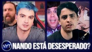 Nando Moura está DESESPERADO, Felipe Neto zoa Nando Moura e Leo Otaco vira alvo de críticas PESADAS! thumbnail
