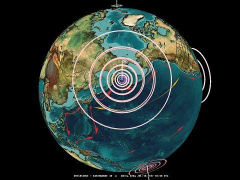 7/18/2017 -- Very Large M7.7 earthquake strikes Pacific + M6.5 strikes Peru = MAJOR UNREST