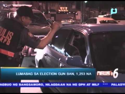 Lumabag sa election gun ban, 1,253 na