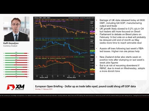 Forex News: 11/02/2019 - Dollar up as trade talks eyed; pound could shrug off GDP data