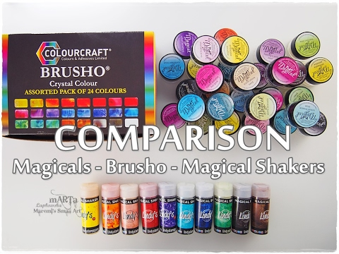 Magicals vs Brusho vs Magical Shakers Comparison ♡ Maremi's Small Art ♡
